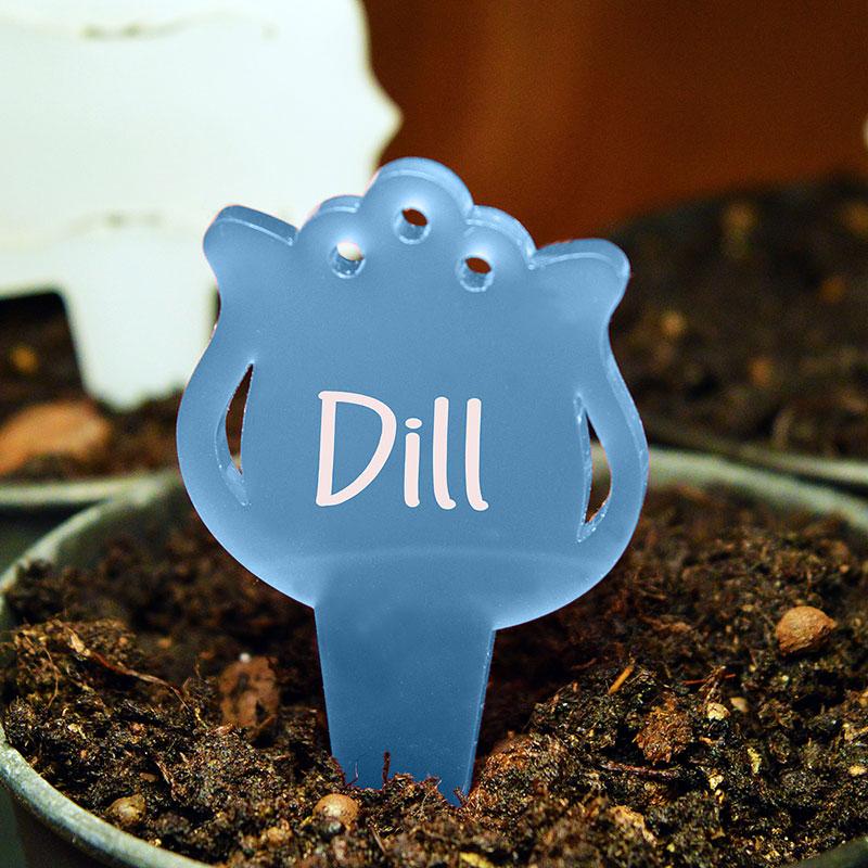 Blomskylt Tulpan, Blå, Växtetikett i form av en tulpan