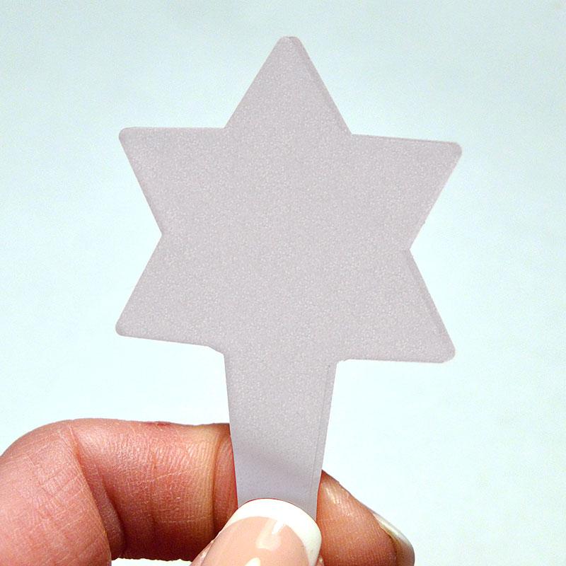 Blomskylt Stjärna, Frostad, Växtetikett i form av en stjärna