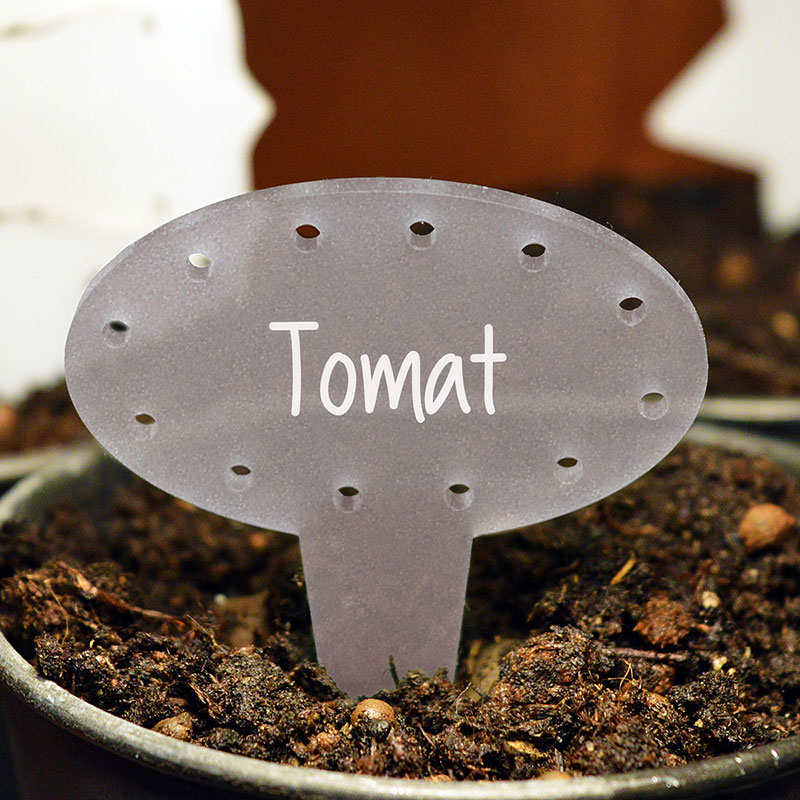 Blomskylt Oval, Frostad-Växtetikett oval