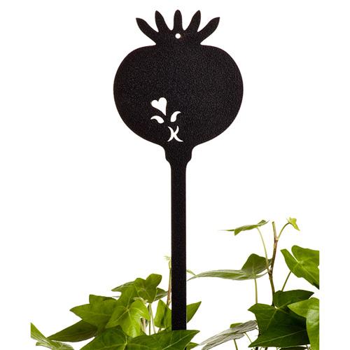 Såsticka svart, Såsticka i järn som växtskylt
