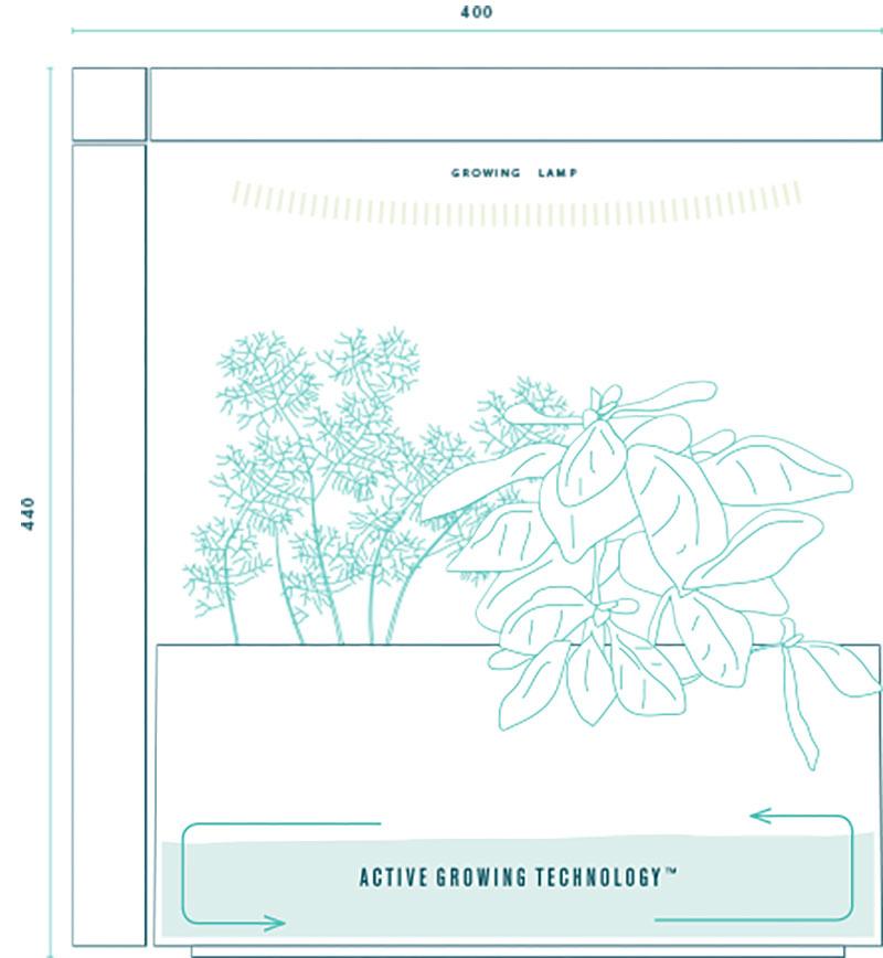Herbie Inomhusodling - Herb:ie 23 - Grå, inomhusodling med hydrokultur - herbie