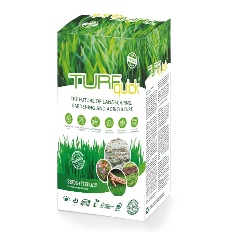 Turfquick gräs på rulle, cellulosatextil med näring