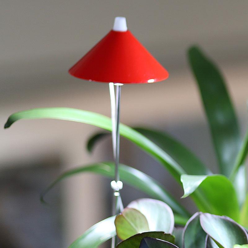 SunLite växtlampa med teleskopstativ, röd-SunLite växtlampa för inomhusodling
