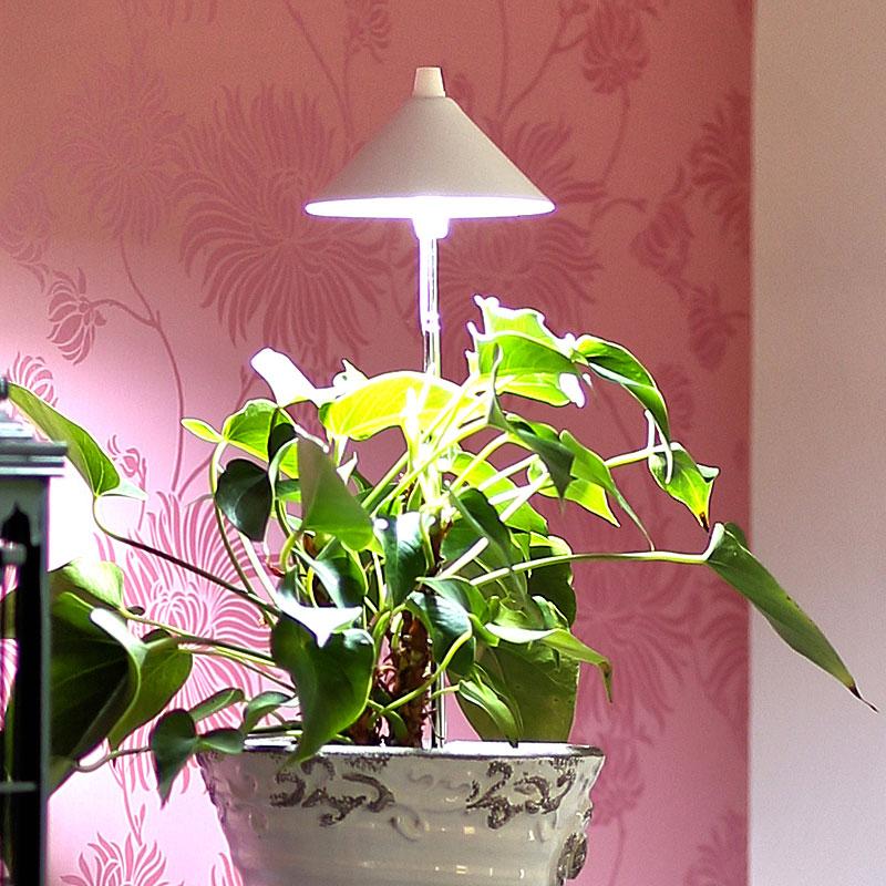 SunLite växtlampa med teleskopstativ, vit-SunLite växtlampa för inomhusodling