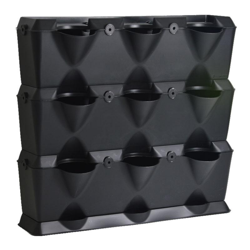 Minigarden Vertical - Växtvägg, svart, Odlingsvägg-växtvägg för inomhusodling och balkongodling