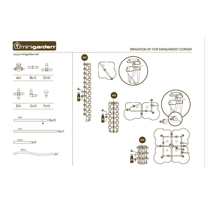 Minigarden Corner Bevattningsset' instruktion