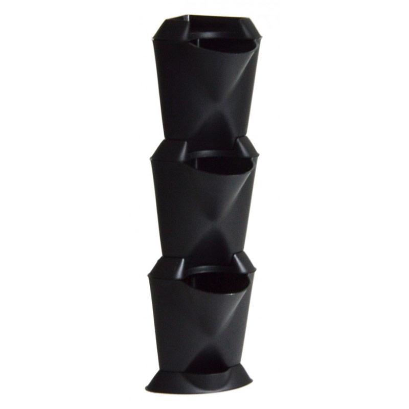 Minigarden Corner - vertikalodling svart-Minigarden corner - vertikal inomhusodling