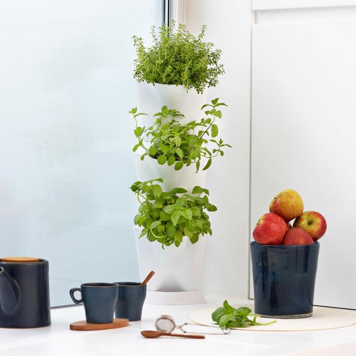 Minigarden Corner - vertikalodling vit-Minigarden corner - vertikal inomhusodling
