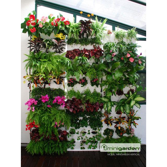 Minigarden Vertical - Växtvägg, vit-Odlingsvägg för inomhusodling och balkongodling