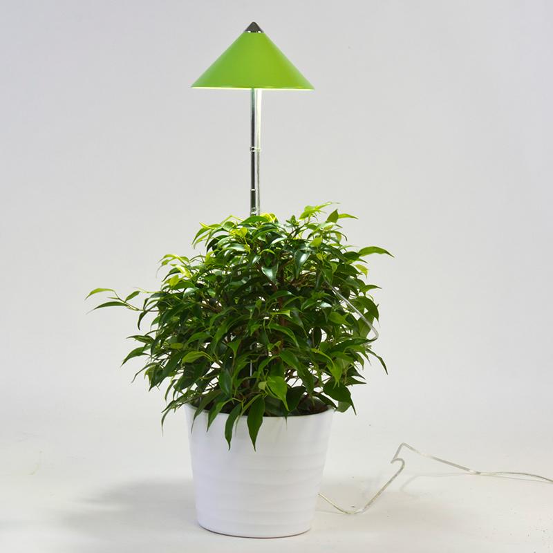 SunLite växtlampa med teleskopstativ, limegrön, SunLite växtlampa för inomhusodling