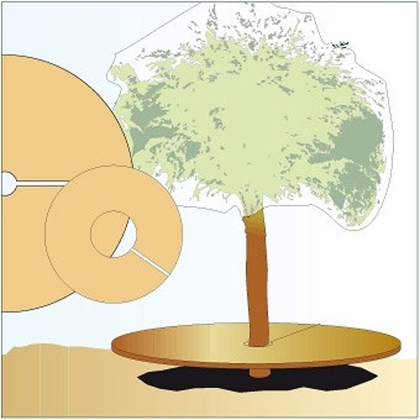 Coco-disc - skyddsmatta, 45 cm,