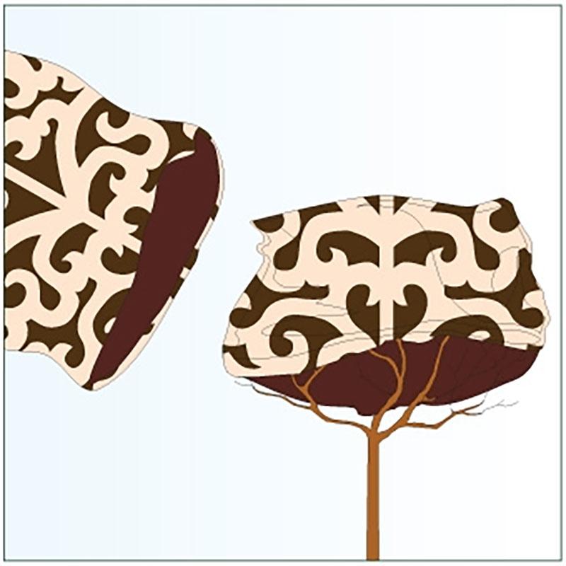 Jutesäck deko liten, brun,