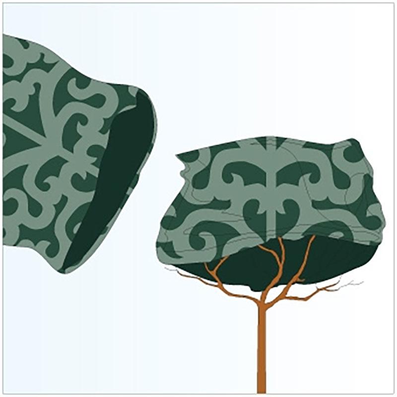 Jutesäck deko liten, grön,