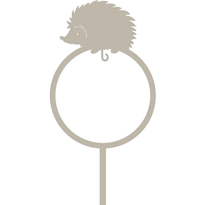 Dekorativ fågelmatare för talgboll, motiv igelkott