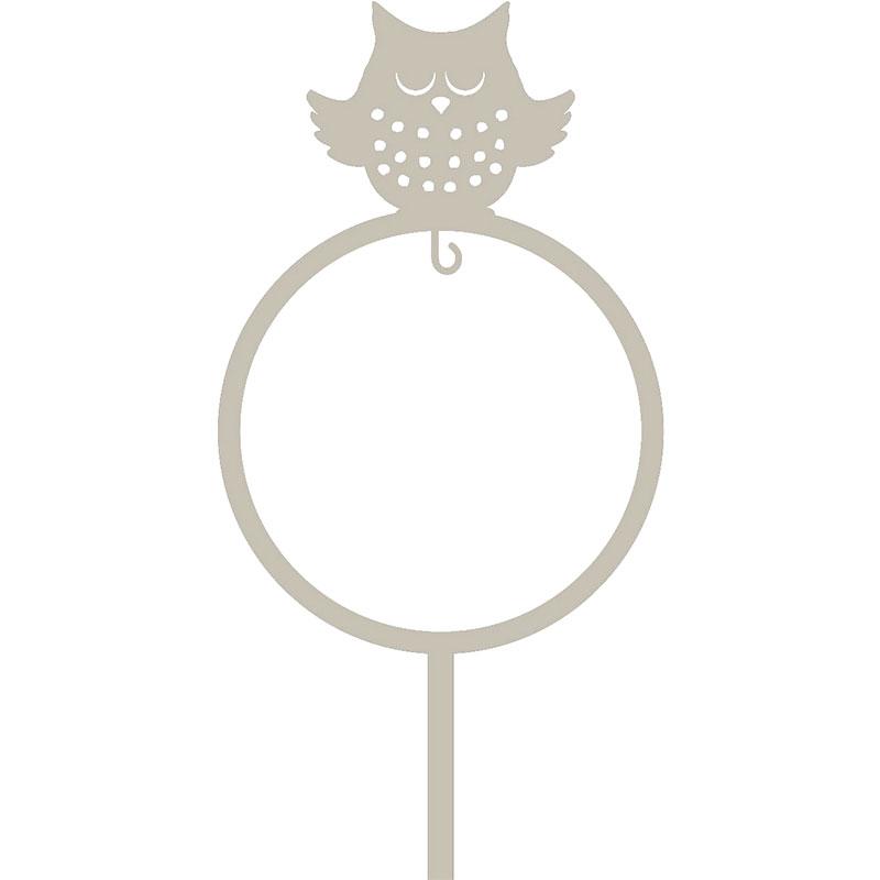 Dekorativ fågelmatare för talgboll, motiv uggla