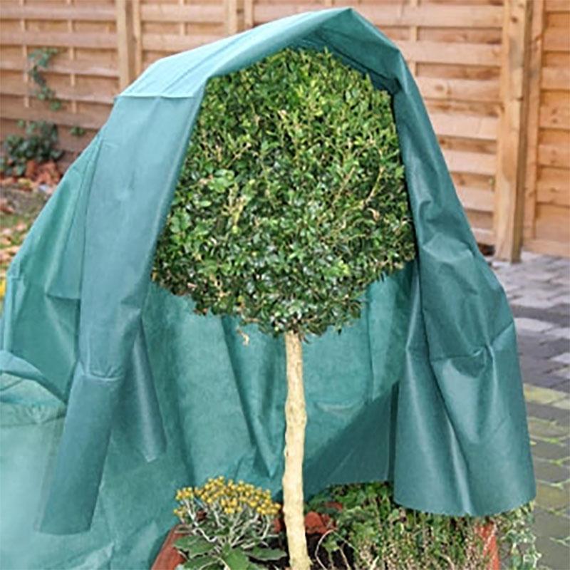 Fiberduk 34 gram, Grön-Kraftig fiberduk 34g/kvm för vinterskydd av växter