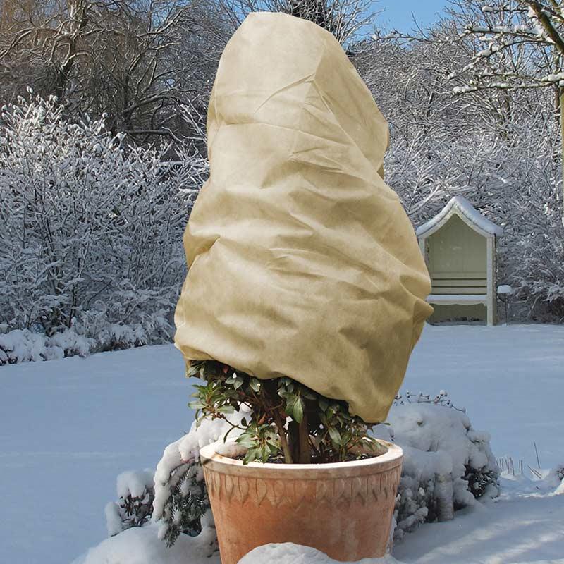 Fiberdukshuva beige, liten, Fiberdukshuva vinterskydd färg beige