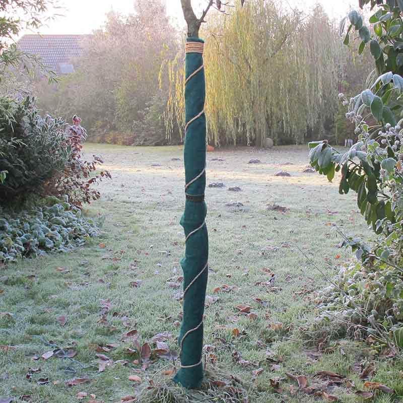 Jutefilt frostskyddsmatta, grön, Frostskyddsmatta i tovad jute