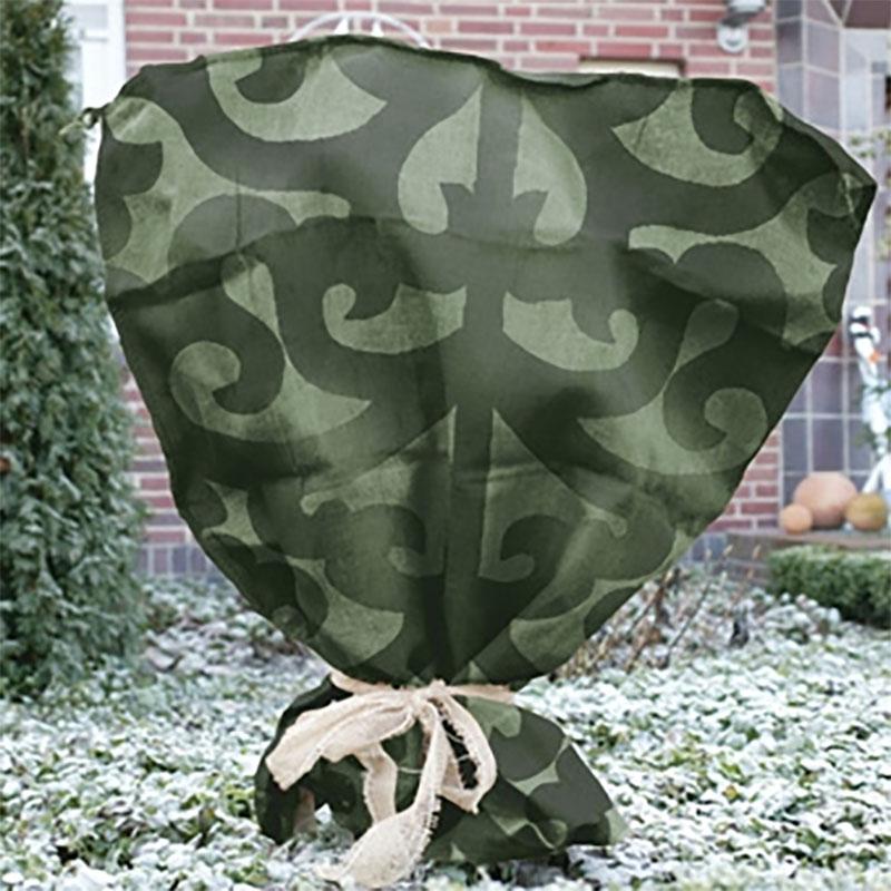 Jutesäck deko stor, grön,