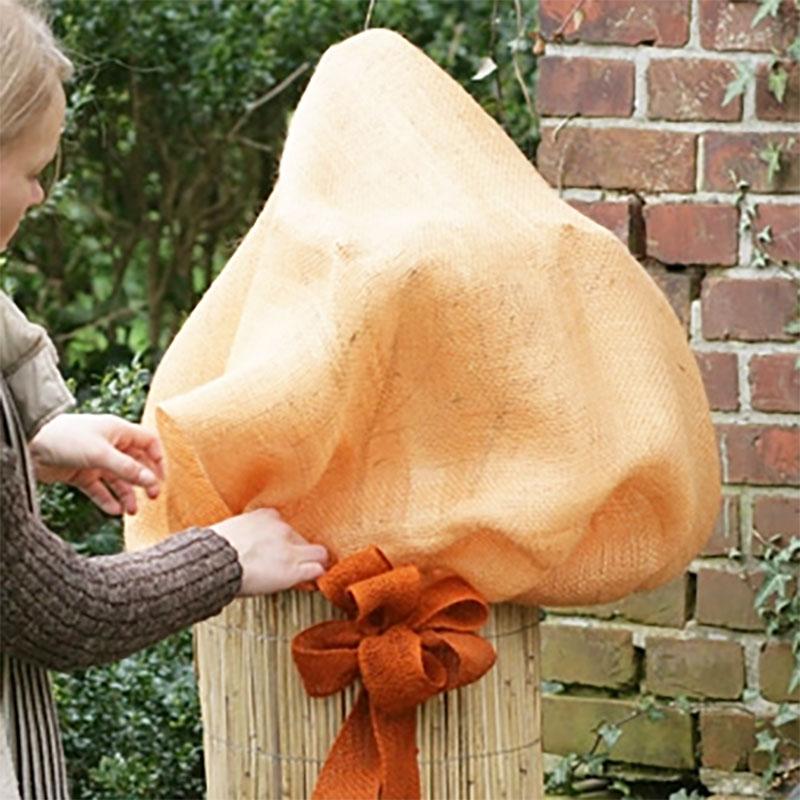 Jutesäck terrakotta-Jutesäck för vinterskydd av växter