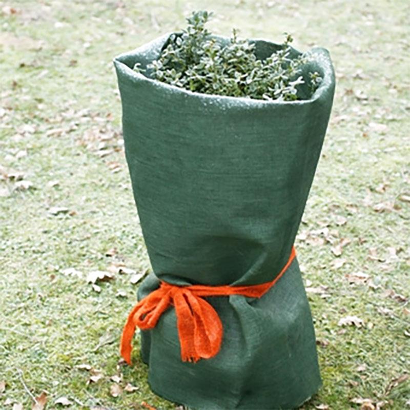 Grön juteväv vintertäckning