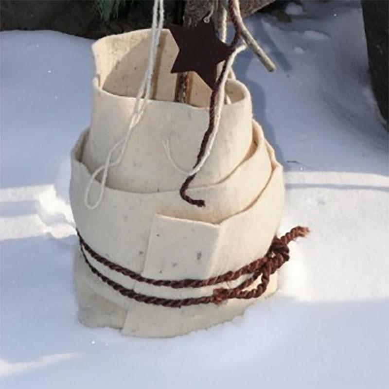 Vinterskyddsmatta fårull, vit, Vinterskydd fårullsmatta