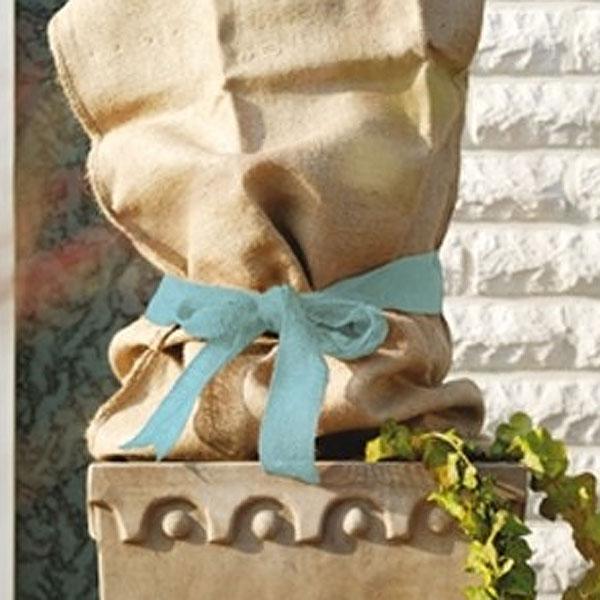 Dekorband jute, ice blue-Dekorband för säkring av vinterskydd