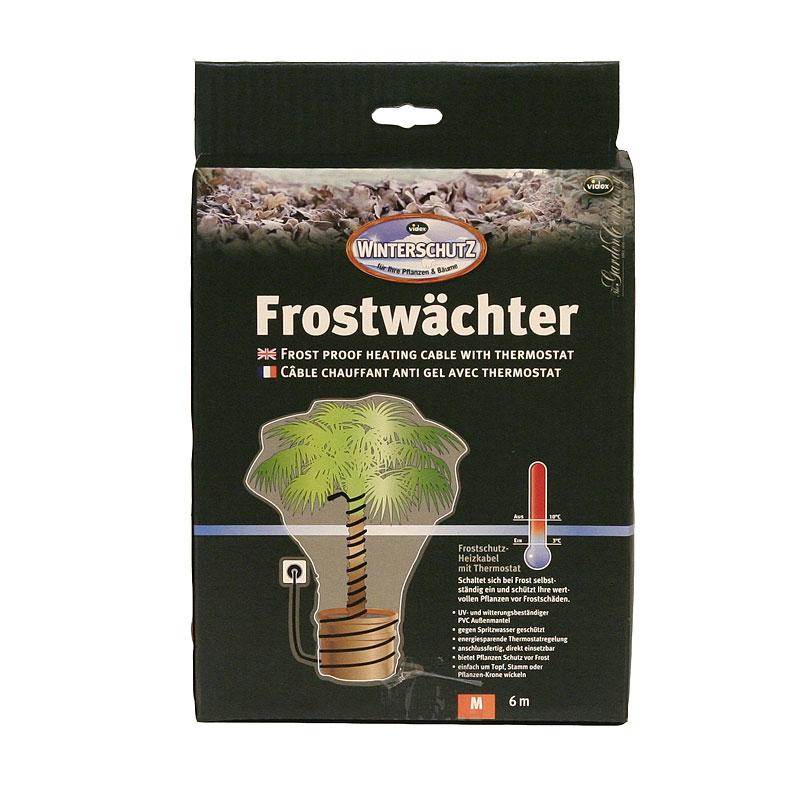Frostskyddskabel 6 meter, med termostat-Värmekabel med termostat för växter utomhus