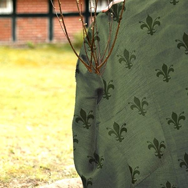 Vinterskydd juteväv, lilja grön-Mönstrad juteväv för vinterskydd av växter