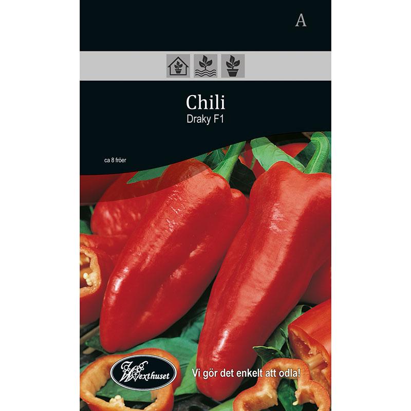 Frö för odling av Chili - Draky