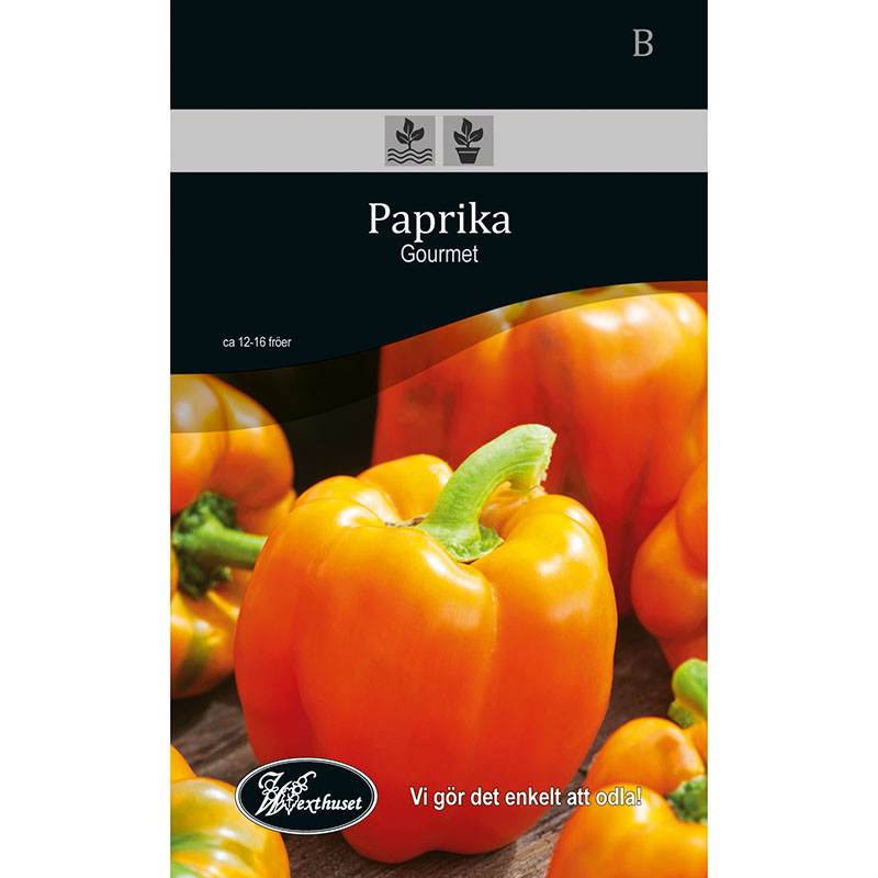 Frö för odling av Paprika - Gourmet