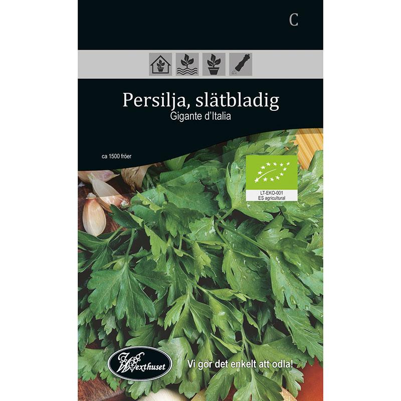Frö för odling av ekologisk Persilja, Slätbladig - Gigante d