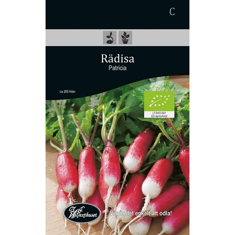 Frö för odling av ekologisk Rädisa - Patricia