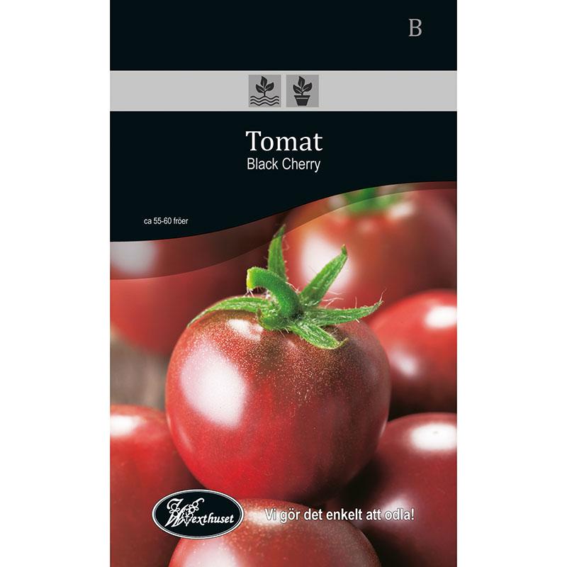 Frö för odling av Tomat - Black Cherry