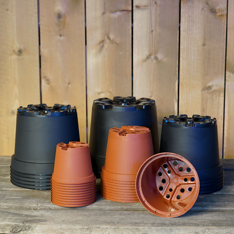 Planteringskrukor, runda 8 cm - 3 liter