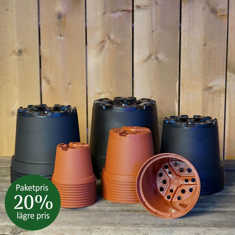 Paketpris runda planteringskrukor 20% lägre pris