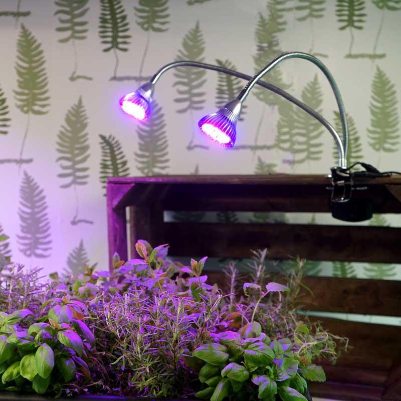 Gemini Grow Light växtbelysning i hylla