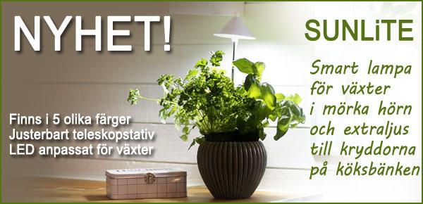 SunLite växtlampa från trädgårdsmässan Nordiska trädgårdar
