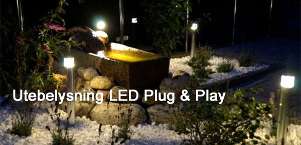 Utebelysning LED Plug & Play