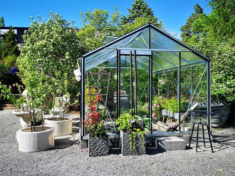 Växthusutställning hos Piteå Handel & Trädgård