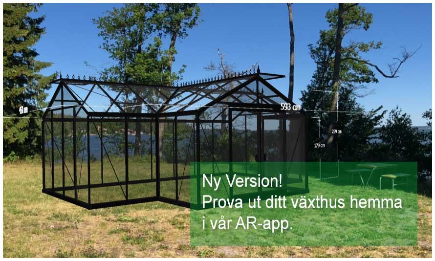 Bygg ditt växthus hemma i augumented reality appen