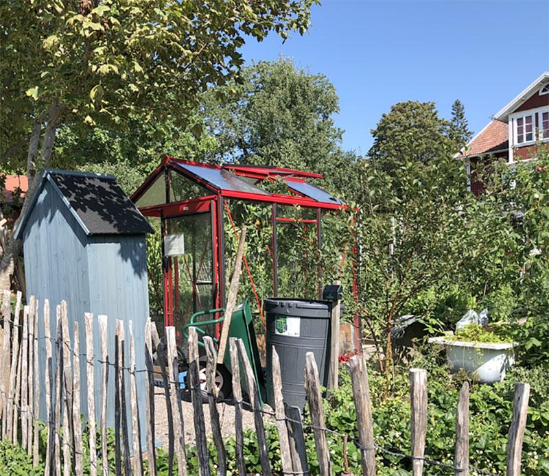Växthusutställning hos Kröns på Väddö modell Piccolo 3 chiliröd