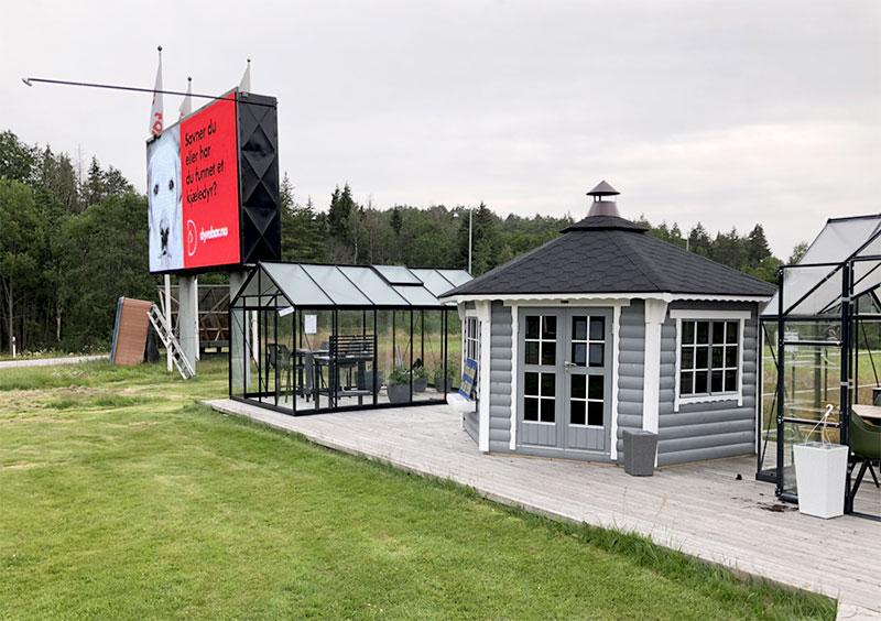 Utställning av växthus hos Nordby Fritid i Strömstad