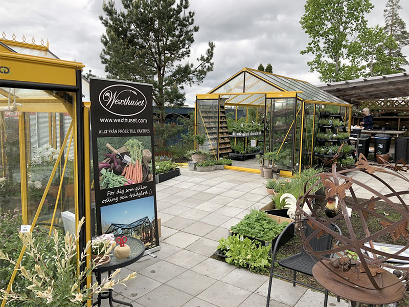 Växthushutställning hos Edvist blommor i Finspång