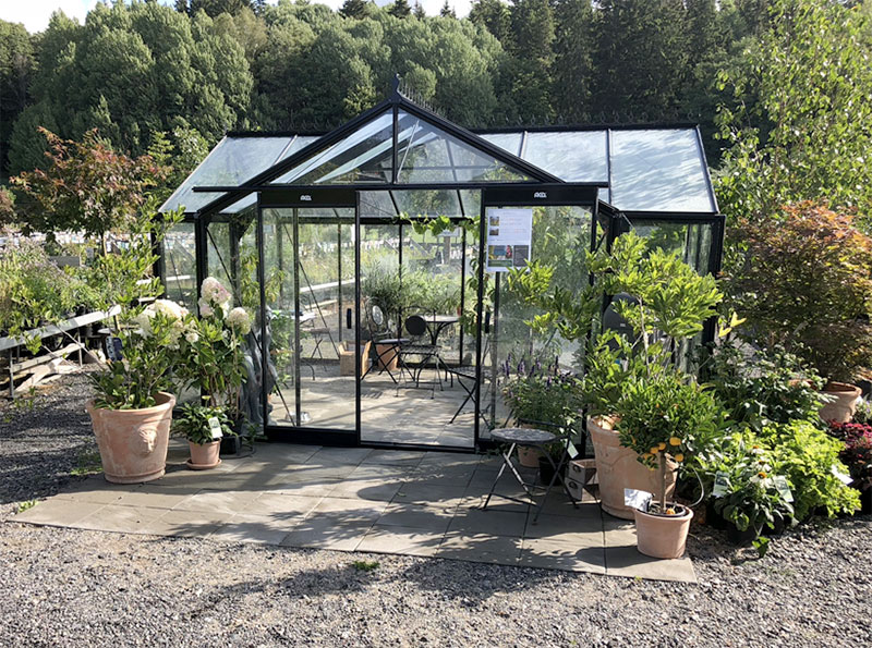 Orangeri växthusutställning hos Ösmo Plantshop