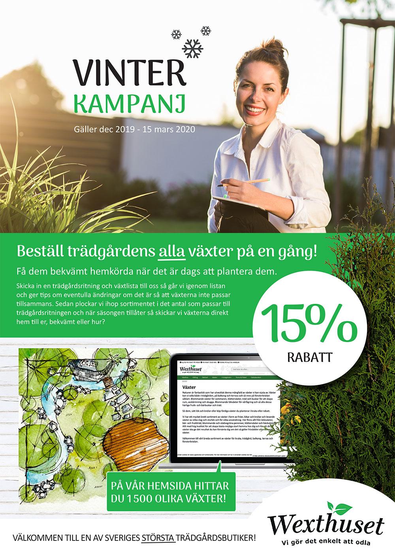 Vinterkampanj på trädgårdsväxter 15%