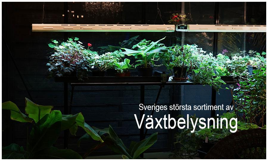 Sveriges största sortiment av växtbelysning